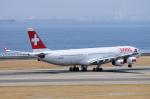 yabyanさんが、中部国際空港で撮影したスイスインターナショナルエアラインズ A340-313Xの航空フォト(写真)
