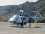 ランチパッドさんが、静岡ヘリポートで撮影した茨城県警察 BK117C-1の航空フォト(写真)