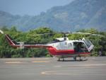 ランチパッドさんが、静岡ヘリポートで撮影した読売新聞 Bo 105Sの航空フォト(写真)