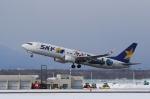 ぷぅちゃんさんが、新千歳空港で撮影したスカイマーク 737-86Nの航空フォト(写真)