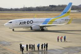 ピーチさんが、岡山空港で撮影したAIR DO 737-781の航空フォト(飛行機 写真・画像)