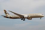 セブンさんが、成田国際空港で撮影したエティハド航空 787-9の航空フォト(飛行機 写真・画像)