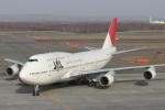 安芸あすかさんが、新千歳空港で撮影した日本航空 747-446Dの航空フォト(写真)
