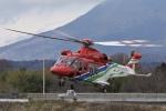 筑波のヘリ撮りさんが、つくばヘリポートで撮影した栃木県消防防災航空隊 AW139の航空フォト(写真)