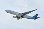 gucciyさんが、関西国際空港で撮影したガルーダ・インドネシア航空 A330-343Eの航空フォト(写真)