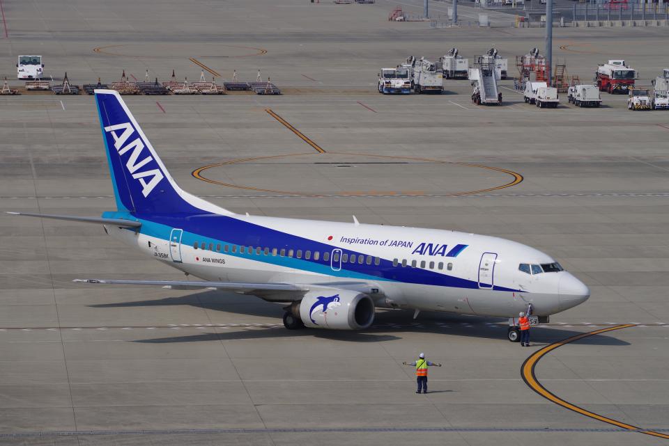yabyanさんのANAウイングス Boeing 737-500 (JA358K) 航空フォト