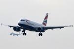 Double_Hさんが、ロンドン・ヒースロー空港で撮影したブリティッシュ・エアウェイズ A319-131の航空フォト(写真)