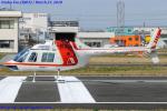 Chofu Spotter Ariaさんが、八尾空港で撮影した朝日航洋 206B JetRanger IIの航空フォト(写真)