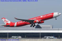 Chofu Spotter Ariaさんが、関西国際空港で撮影したタイ・エアアジア・エックス A330-343Eの航空フォト(飛行機 写真・画像)
