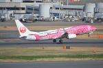 LEGACY-747さんが、羽田空港で撮影した日本トランスオーシャン航空 737-8Q3の航空フォト(写真)