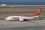 yabyanさんが、中部国際空港で撮影したティーウェイ航空 737-8BKの航空フォト(飛行機 写真・画像)