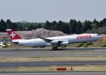 じーく。さんが、成田国際空港で撮影したスイスインターナショナルエアラインズ A340-313Xの航空フォト(飛行機 写真・画像)