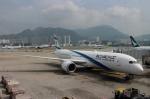 ハピネスさんが、香港国際空港で撮影したエル・アル航空 787-9の航空フォト(飛行機 写真・画像)
