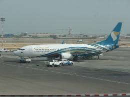ja8101kyさんが、マスカット国際空港で撮影したオマーン航空 737-81Mの航空フォト(飛行機 写真・画像)