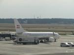 きゃみさんが、フランクフルト国際空港で撮影したプライベートエア 737-7CN BBJの航空フォト(飛行機 写真・画像)