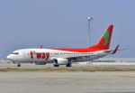 kix-boobyさんが、関西国際空港で撮影したティーウェイ航空 737-8Q8の航空フォト(写真)
