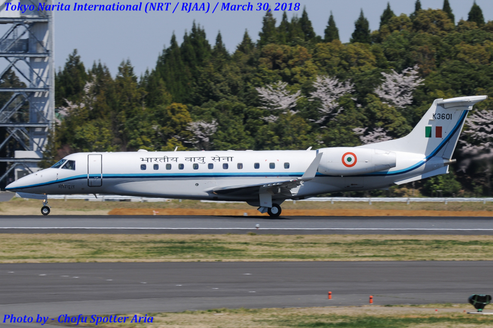 Chofu Spotter Ariaさんのインド空軍 Embraer ERJ-135 (K3601) 航空フォト