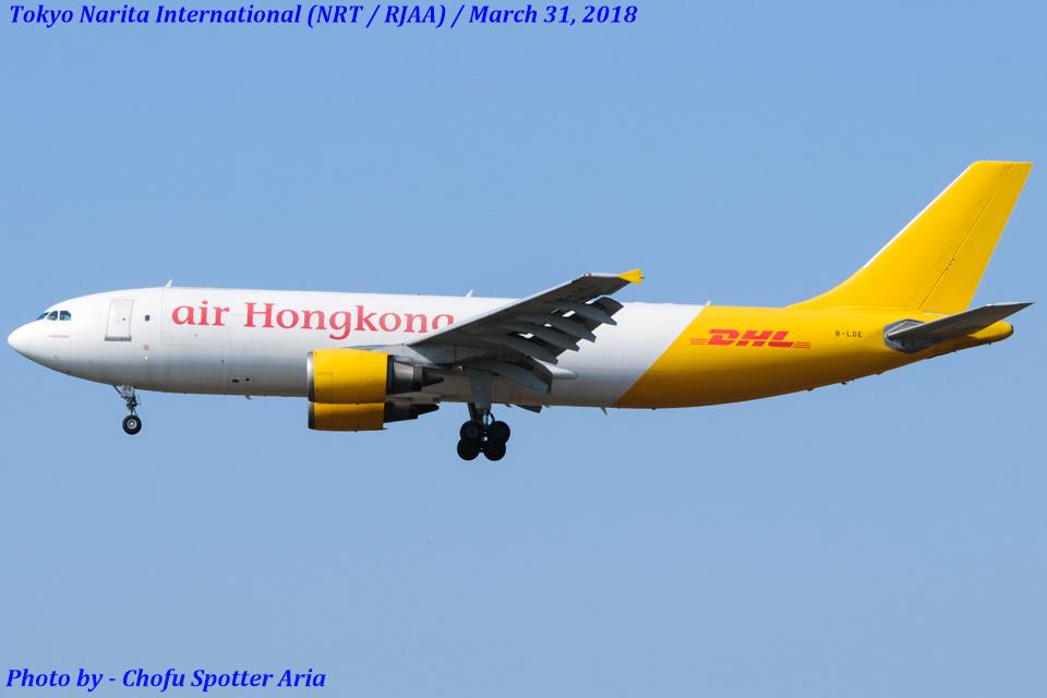 Chofu Spotter Ariaさんのエアー・ホンコン Airbus A300-600 (B-LDE) 航空フォト