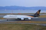 ガス屋のヨッシーさんが、関西国際空港で撮影したUPS航空 747-8Fの航空フォト(写真)
