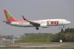 OMAさんが、成田国際空港で撮影したティーウェイ航空 737-83Nの航空フォト(飛行機 写真・画像)
