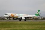 てくてぃーさんが、松山空港で撮影したエバー航空 A321-211の航空フォト(飛行機 写真・画像)