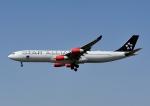 じーく。さんが、成田国際空港で撮影したスカンジナビア航空 A340-313Xの航空フォト(飛行機 写真・画像)