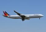 じーく。さんが、成田国際空港で撮影したフィリピン航空 A340-313Xの航空フォト(飛行機 写真・画像)