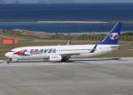 voyagerさんが、那覇空港で撮影したトラベル・サービス 737-8Q8の航空フォト(飛行機 写真・画像)