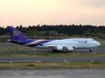 よんすけさんが、成田国際空港で撮影したタイ国際航空 747-4D7の航空フォト(写真)