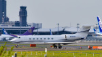 パンダさんが、成田国際空港で撮影したユタ銀行 G-V-SP Gulfstream G550の航空フォト(写真)