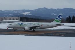 marariaさんが、青森空港で撮影したスカイウィングス・アジア・エアラインズ A320-212の航空フォト(飛行機 写真・画像)