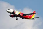 まいけるさんが、スワンナプーム国際空港で撮影したタイ・ベトジェットエア A320-214の航空フォト(写真)