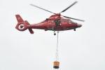 500さんが、スポーツランドSUGO西駐車場で撮影した宮城県防災航空隊 AS365N3 Dauphin 2の航空フォト(写真)