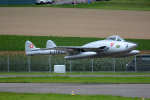Tomo-Papaさんが、ミリテール・ド・ペイエルヌ飛行場で撮影したスイス企業所有 DH.100 Vampireの航空フォト(写真)