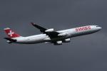 sepia2016さんが、成田国際空港で撮影したスイスインターナショナルエアラインズ A340-313Xの航空フォト(写真)