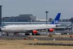 みぐさんが、成田国際空港で撮影したスカンジナビア航空 A340-313Xの航空フォト(写真)
