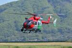 Gambardierさんが、岡南飛行場で撮影した岡山市消防航空隊 BK117C-2の航空フォト(写真)