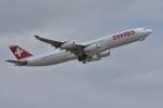 qooさんが、成田国際空港で撮影したスイスインターナショナルエアラインズ A340-313Xの航空フォト(写真)