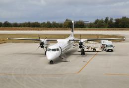 ケロさんが、南大東空港で撮影した琉球エアーコミューター DHC-8-402Q Dash 8 Combiの航空フォト(飛行機 写真・画像)