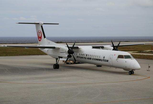 ケロさんが、北大東空港で撮影した琉球エアーコミューター DHC-8-402Q Dash 8 Combiの航空フォト(飛行機 写真・画像)
