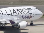 6500さんが、中部国際空港で撮影したタイ国際航空 747-4D7の航空フォト(写真)