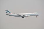 LEGACY-747さんが、香港国際空港で撮影したキャセイパシフィック航空 747-867F/SCDの航空フォト(飛行機 写真・画像)