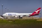 mameshibaさんが、羽田空港で撮影したカンタス航空 747-438/ERの航空フォト(写真)