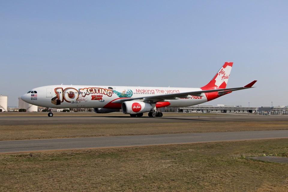 北の熊さんのエアアジア・エックス Airbus A330-300 (9M-XXF) 航空フォト