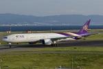 眠たいさんが、関西国際空港で撮影したタイ国際航空 777-3AL/ERの航空フォト(写真)