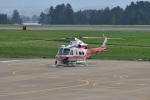 Cスマイルさんが、花巻空港で撮影した青森県防災航空隊 412EPIの航空フォト(写真)