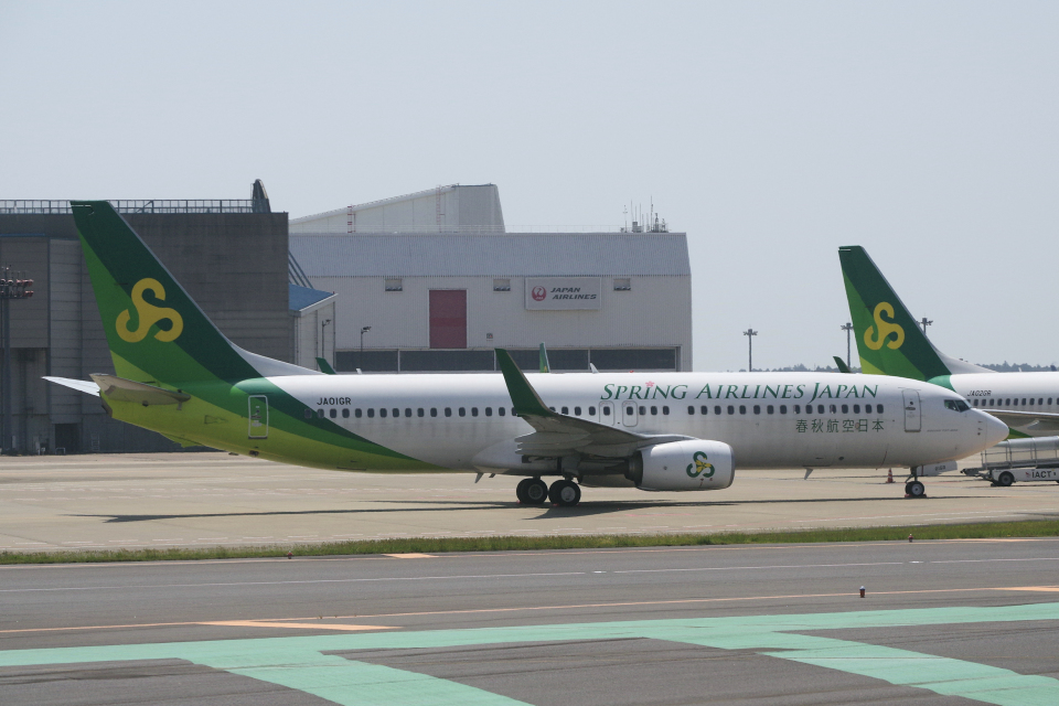 yabyanさんの春秋航空日本 Boeing 737-800 (JA01GR) 航空フォト
