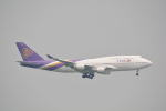 LEGACY-747さんが、香港国際空港で撮影したタイ国際航空 747-4D7の航空フォト(飛行機 写真・画像)