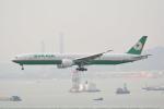 LEGACY-747さんが、香港国際空港で撮影したエバー航空 777-35E/ERの航空フォト(飛行機 写真・画像)