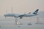 LEGACY-747さんが、香港国際空港で撮影したキャセイパシフィック航空 A350-941の航空フォト(飛行機 写真・画像)